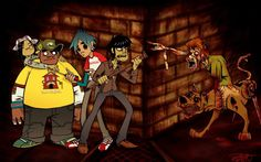 Gorillaz and Scoobi Doo zombie 1920x1200 wallpaper