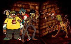 Gorillaz and Scoobi Doo zombie 1920x1200 wallpaper