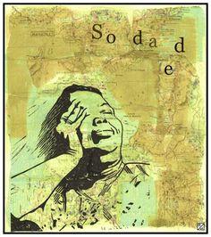 """Eleonora Spezi """"Cesaria Evora"""", linoleum, collage, computer graphic, 2011"""