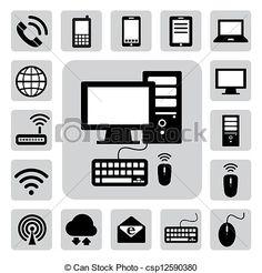 Negocio basado en la computadora y todos sus componentes