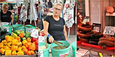 Pickled cucumbers, sauerkraut & kielbasa Krakowska and Lisiecka -While at the farmers market in Kazimierz, we also had a stop to taste the pickled cucumbers & pickled cabbage - that would have went lovely also for stop 2, along with the clear - crystal - water-like vodka.