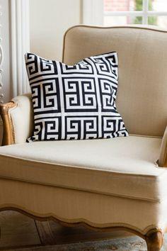 GRECIAN PILLOW COVER – Alex Harper Co. Greek Key, Pillow Covers, Throw Pillows, Bed, Pillow Case Dresses, Toss Pillows, Pillow Shams, Cushions, Stream Bed