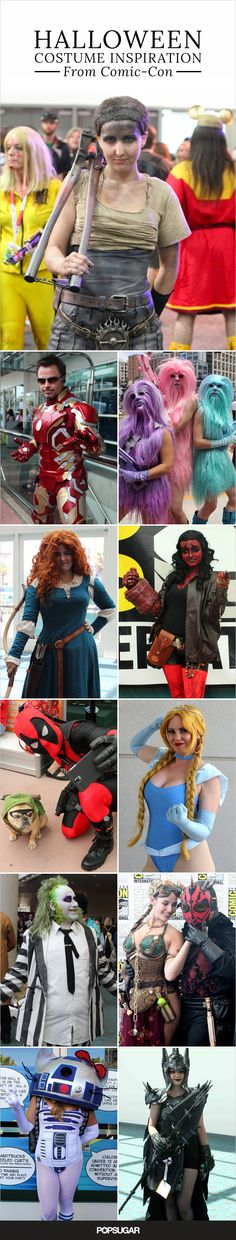 These Comic-Con cosplay looks will make great Halloween costumes!!