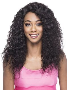 Milano Wig by Vivica Fox: Milano is a layered loose water wave wig. It is part of Vivica's VVIP Collection, and is a hand-tied full Swiss lace wig made with superb craftsmanship. It is perfect for updo ponytails, and more. 100 Human Hair Wigs, Remy Human Hair, Cheap Wigs, Air Dry Hair, Natural Hair Styles, Long Hair Styles, Types Of Curls, Permed Hairstyles, Wigs For Black Women
