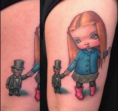 Mark Ryden tattoo by Christina Ramos at Memoir Tattoo