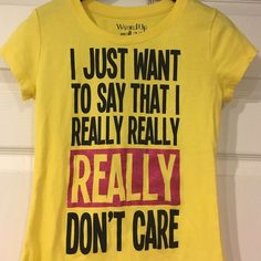 Yellow Graphic Tee Worn once Yellow Graphic tee! Cute! Tops Tees - Short Sleeve