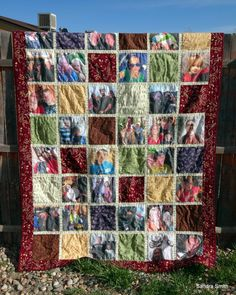 Custom Photo Quilt | Fabric: Enchanted Pond | Pattern: My own