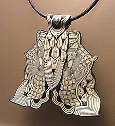 fabulous polymer clay pendant by Jana Roberts Benzon