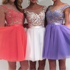 Designer Dresses 2015 Fall Beautiful Homecoming Dresses Uk Sheer Crew Neck Appliqued Tulle Sweet 16 Dresses With Short Sleeves Lace Dress From Nicedressonline, $139.9| Dhgate.Com