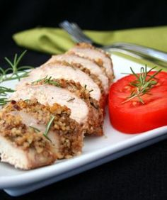 Rosemary Walnut Crusted Chicken - Gluten Free, Soy Free, Corn Free, Dairy Free - Cut recipe in 1/2 and used 1/4 dried rosemary instead of full amount of fresh rosemary and olive oil instead of walnut oil