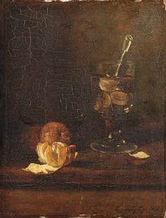 Nature morte au verre et oranges 1871