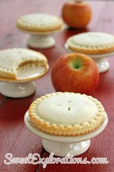 Apple Pie Cookies -- How totally ADORABLE! When we get our Henrietta Charlotta . . . let's have a tea party! What do you think @Andrea / FICTILIS Taylor