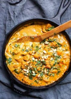 Ultra creamy and delicious Thai inspired butternut squash red curry that is creamy, spicy, rich, and comforting! The sweet butternut squash pairs beautifully with all the red curry spices. Indian Food Recipes, Vegan Recipes, Cooking Recipes, Thai Vegetarian Recipes, Vegetarian Thai Curry, Curry Food, Easy Recipes, Red Curry Recipes, Quick Recipes For Dinner
