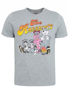 The Raccoons Cartoon Officially Licensed Size Medium T-Shirt Raccoons, T Shirt Vest, Round Collar, Latest Fashion For Women, Asda, Medium, Mens Tops, Shirts, Cartoon