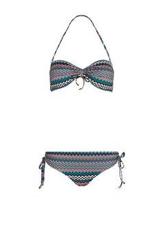 MANGO - TOUCH - Zigzag printed bandeau bikini by Guillermina Baeza