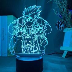 Naruto Uzumaki, Anime Naruto, Kakashi And Obito, Boruto, Team 7, Sensor Night Lights, Led Night Light, Lampe Led, Led Lamp