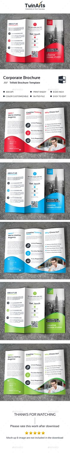 Advertising Brochure Template Trifold Bundle  Brochure Template Brochures And Print Templates