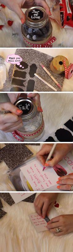 Jar of Love   Easy DIY Anniversary Gift Ideas for Him