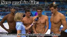 Screw that I wanna be the swimmer