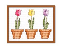 Blog | Tiny Modernist Cross Stitch...free tulip cross stitch pattern