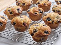 The Best Blueberry Muffins by Food Network Kitchen Best Blueberry Muffins, Blue Berry Muffins, Blueberry Desserts, Raspberry Muffins, Blueberry Bread, Food Network Recipes, Cooking Recipes, Muffin Recipes, Kitchen