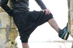"""Sarouel homme noir à fines rayures """"NIRVANA"""" : Jeans, pantalons par tuktukshop"""