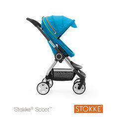 Stokke Poussette 4 roues scoot bleu urban