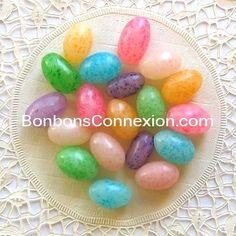 Easter speckled jelly eggs - Oeufs de gelée tachetés  #bonbonspaques #eastercandy
