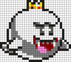 King Boo Perler Bead Pattern
