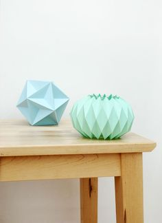 DIY Accordion paper folding // Candle holders