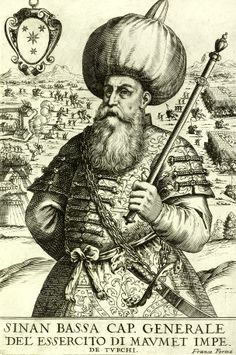 Sinan Pasha, originally a Janissary, later on the famous architect of the century Historical Art, Historical Pictures, Exotic Art, Antique Illustration, Ottoman Empire, Sufi, Gravure, North Africa, 16th Century