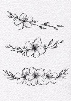 Mini Tattoos, Flower Tattoos, Body Art Tattoos, Tattoo Drawings, Small Tattoos, Floral Tattoo Design, Tattoo Designs, Simplistic Tattoos, Tattoo Flash Art