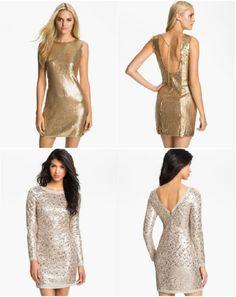 Metallic NYE Dresses