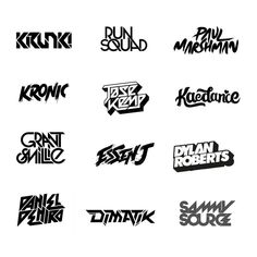 i am Professional Logo designer , Specialized in DJ , Band , rock and Typography LOGO Design.I have been working in DJ logos for years and have designed hundreds of DJ logos. Dj Logo, Logo And Identity, Identity Design, Branding, Handwritten Typography, Calligraphy Logo, Typography Logo, Lettering, Typography Letters