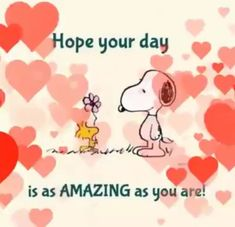 emoji video Hope your day is as amazing as you are ❤️ Good Morning Snoopy, Good Morning Happy, Good Morning Messages, Good Morning Quotes, Good Morning Friends, Good Morning Wishes, Snoopy Images, Snoopy Pictures, Happy Birthday Video