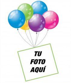 Marco para fotos con adornos de fiesta y globos para hacer una felicitación - Fotoefectos Happy Birthday Pictures, 40th Birthday, Birthdays, Party Ideas, Iphone, Purple, Flowers, Making Greeting Cards, Happy Birthday Grandson
