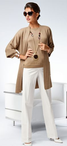 michael kors factory outlet store w2j4  Nude sweater set Very classic look for work Love the fact that the  cardigan sweater is longer than the shell Love cardigan sweater sets for  winter,