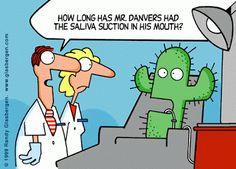 How long has Mr. Danvers had the saliva suction in his mouth? #DentalHumor #DentalJokes Google+