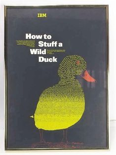 "Vintage IBM ""How to Stuff a Wild Duck"" Print, Collectible IBM Print"