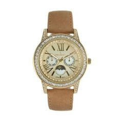 Peugeot Watch - Women's Leather Moon Phase