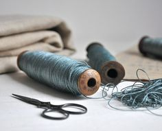 KM - color, texture, vibe  vintage french spools of thread