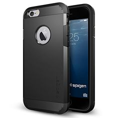 iPhone 6 Case, Spigen® [Heavy Duty] iPhone 6 (4.7) Case Protective [Tough Armor] [Smooth Black] (SF Coated) Dual Layer EXTREME Protection Cover Heavy Duty Case for iPhone 6 (4.7) (2014) - Smooth Black (SGP10968)