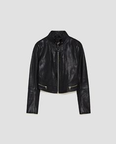 Best Leather Jackets, Checked Trousers, Burberry Trench, Zara New, Faux Leather Skirt, Biker Style, Mandarin Collar, Put On, New Fashion