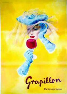 Victor Ruzo, Grapillon vintage Swiss advert ad for liquor or wine?