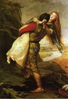 Famous Oil Paintings of Lovers | The Crown Of Love oil painting by Famous Artist - Sir John Everett ...
