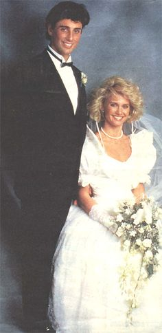 Olivia Newton John and Matt Lattanzi. They were married in 1984, had one child together, and later divorced in 1995.