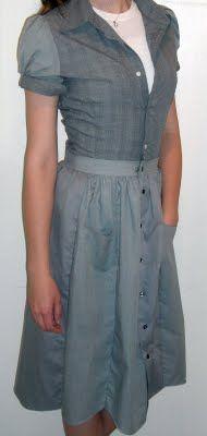 Refashioned Shirt Dress