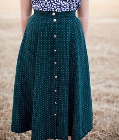Cute skirt! I like the length, but maybe not the buttons.