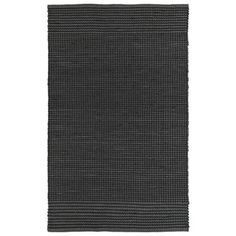 Handmade Charcoal Wool & Jute Frisco Rug  (8'0 x 10'0) | Overstock.com Shopping - The Best Deals on 7x9 - 10x14 Rugs