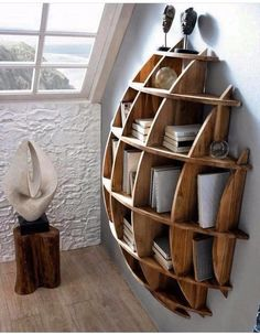Wood Profits - Wood Profits - Circular book shelf - Discover How You Can Start A Woodworking Business From Home Easily in 7 Days With NO Capital Needed! Discover How You Can Start A Woodworking Business From Home Easily in 7 Days With NO Capital Needed! Diy Furniture, Furniture Design, Furniture Plans, System Furniture, Furniture Chairs, Bedroom Furniture, Garden Furniture, Outdoor Furniture, Unique Wood Furniture